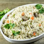Cameroonian coconut rice. African coconut rice recipe on Precious Core.