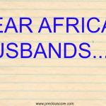 OPEN LETTER TO AFRICAN HUSBANDS