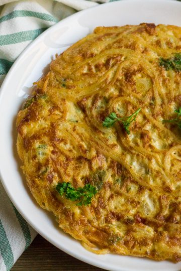 Spaghetti Omelette Recipe