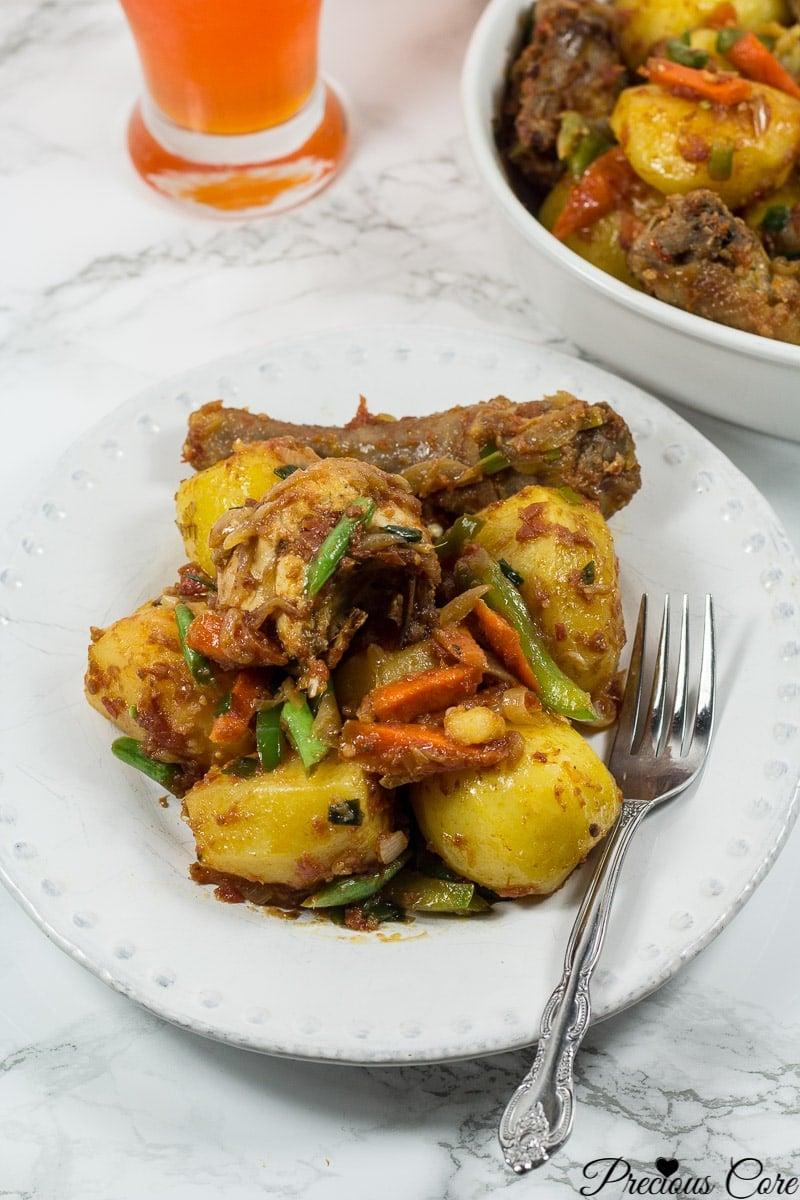 cameroon potato hot pot_