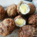 SCOTCH EGGS COATED WITH MEAT