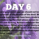 PRAYERS FOR FRUIT OF THE WOMB – DAY – 6