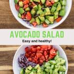 Avocado salad in bowl