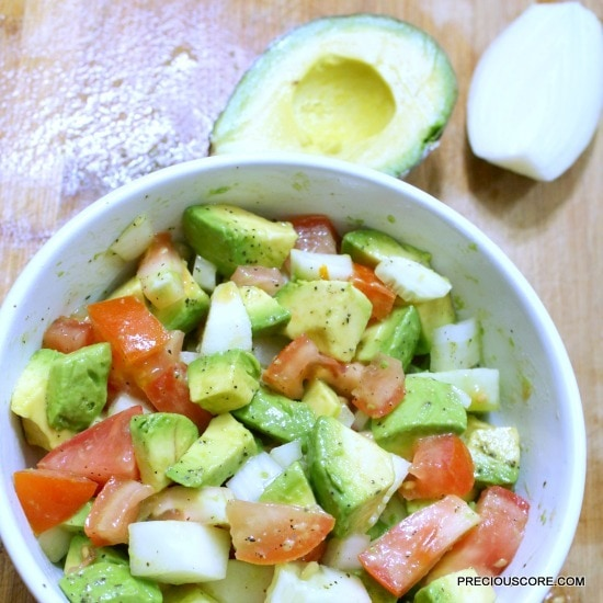 healthy avocado salad