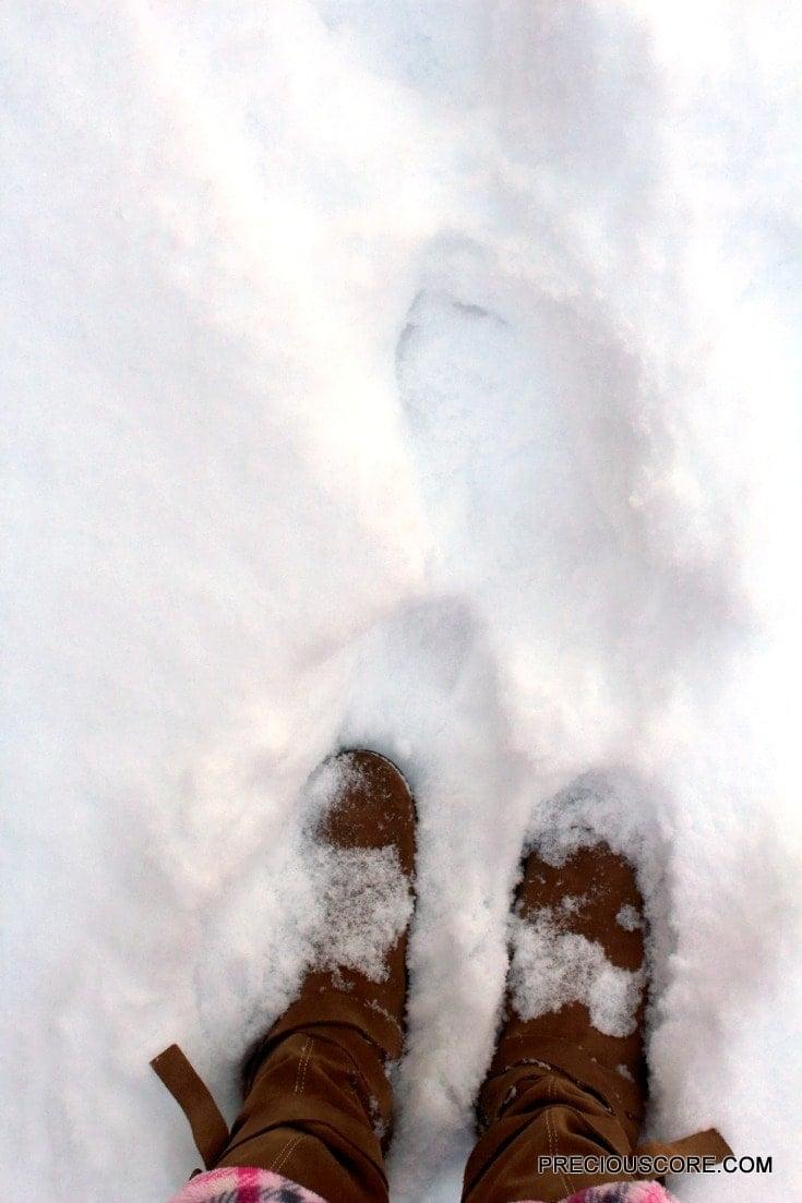 walking-snow