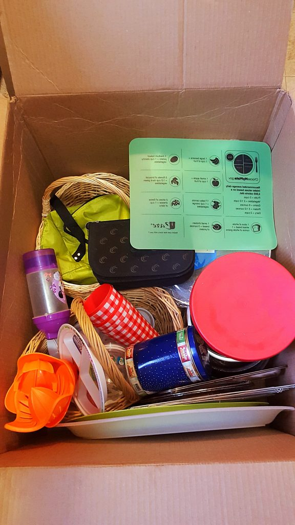 decluttering kitchen box