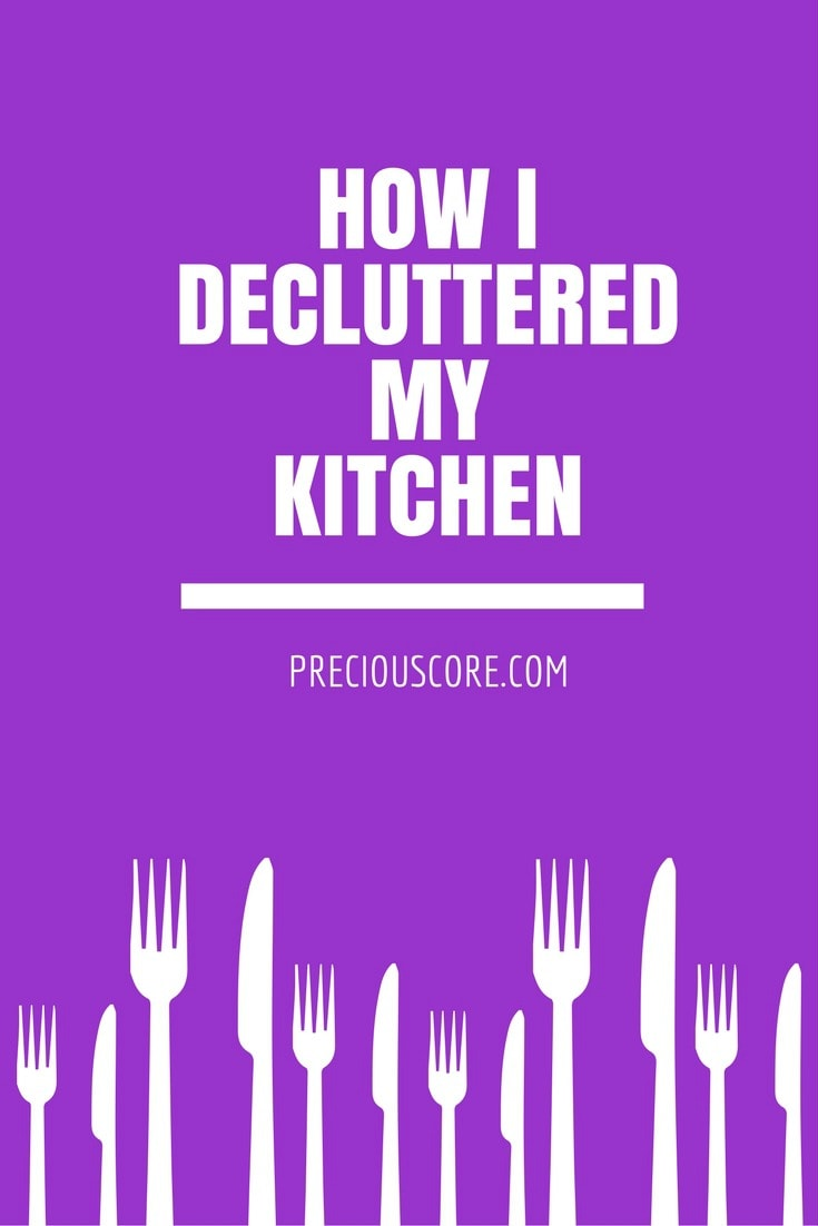 How I decluttered my kitchen - my journey to minimalism