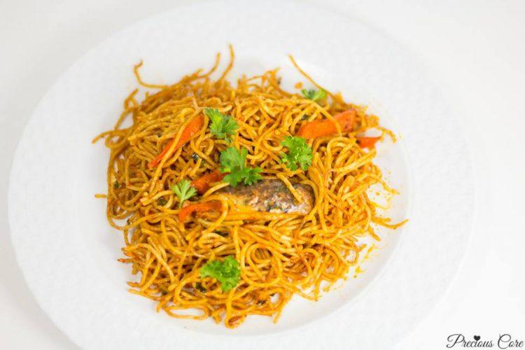SSpaghetti Jollof with sardine