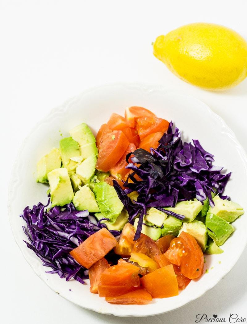 simple salad for pasta dish