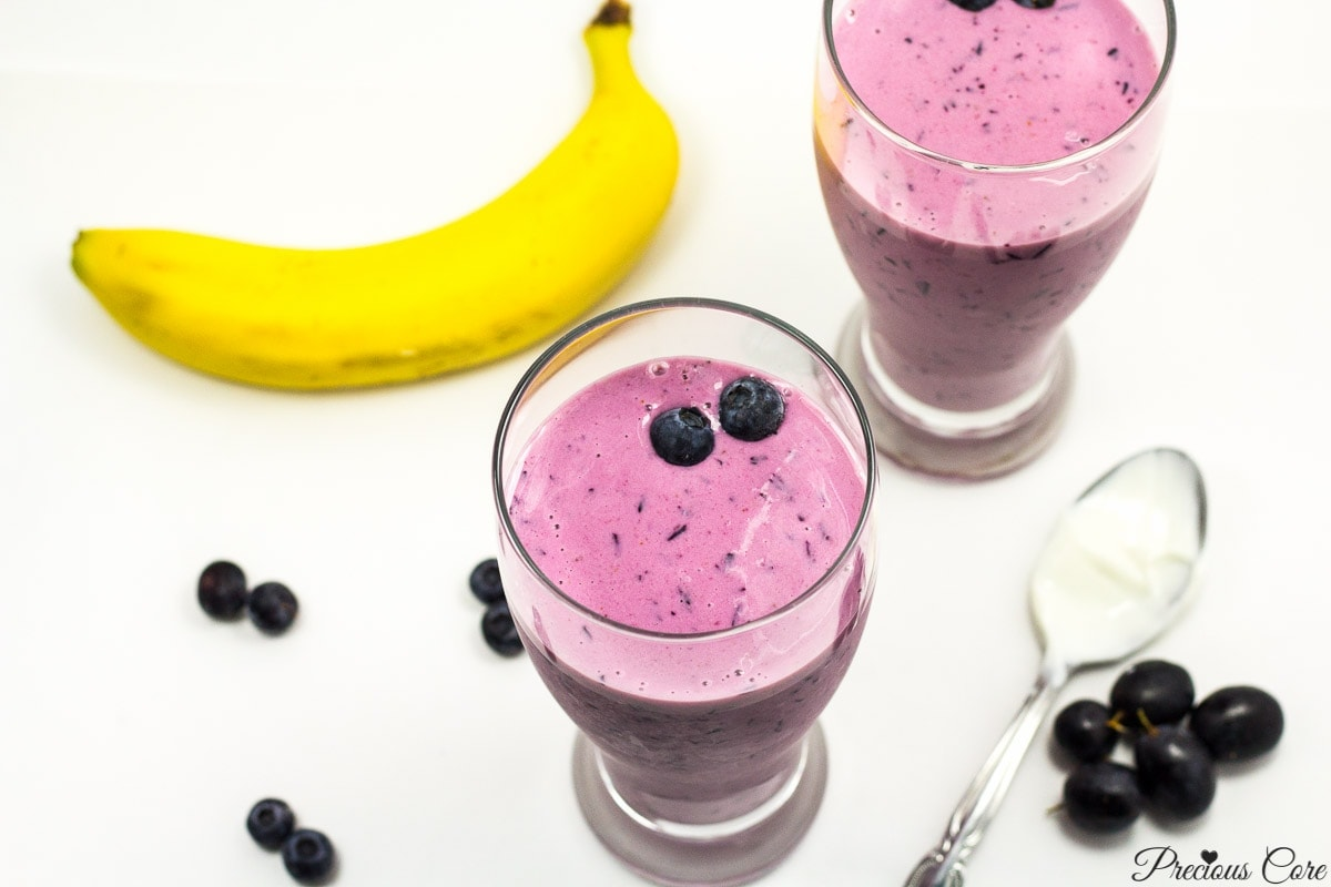 4-ingredient purple smoothie