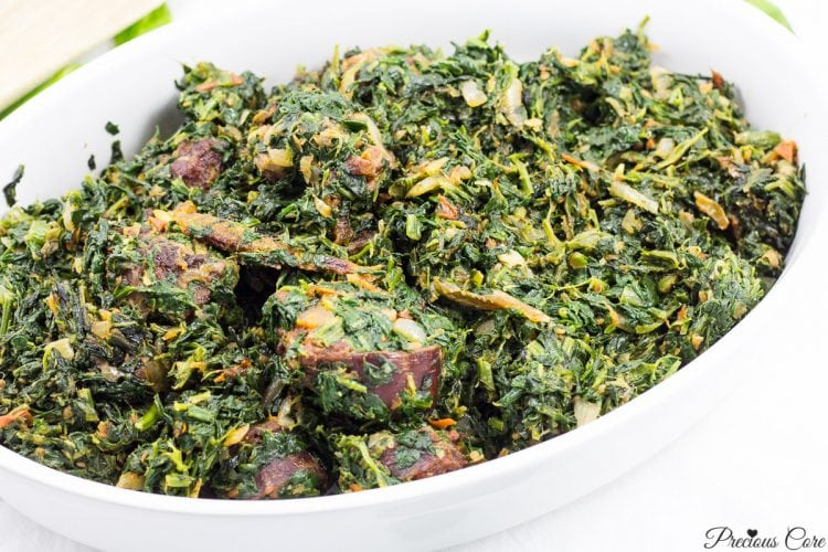 African Stewed Spinach