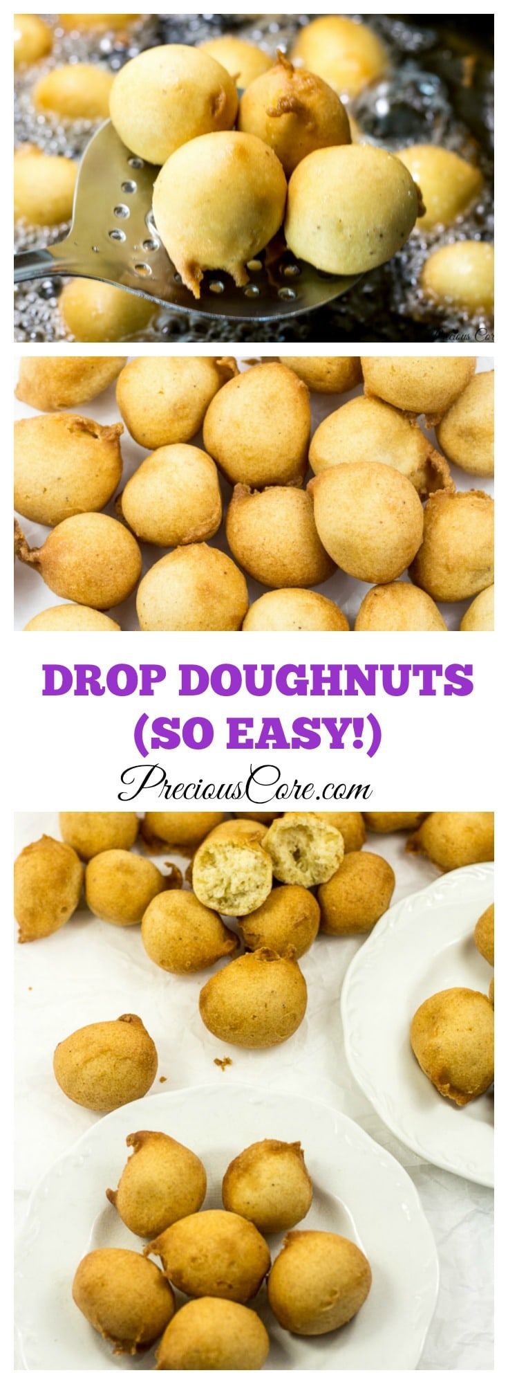 Easy Drop Doughnuts Recipe - Precious Core