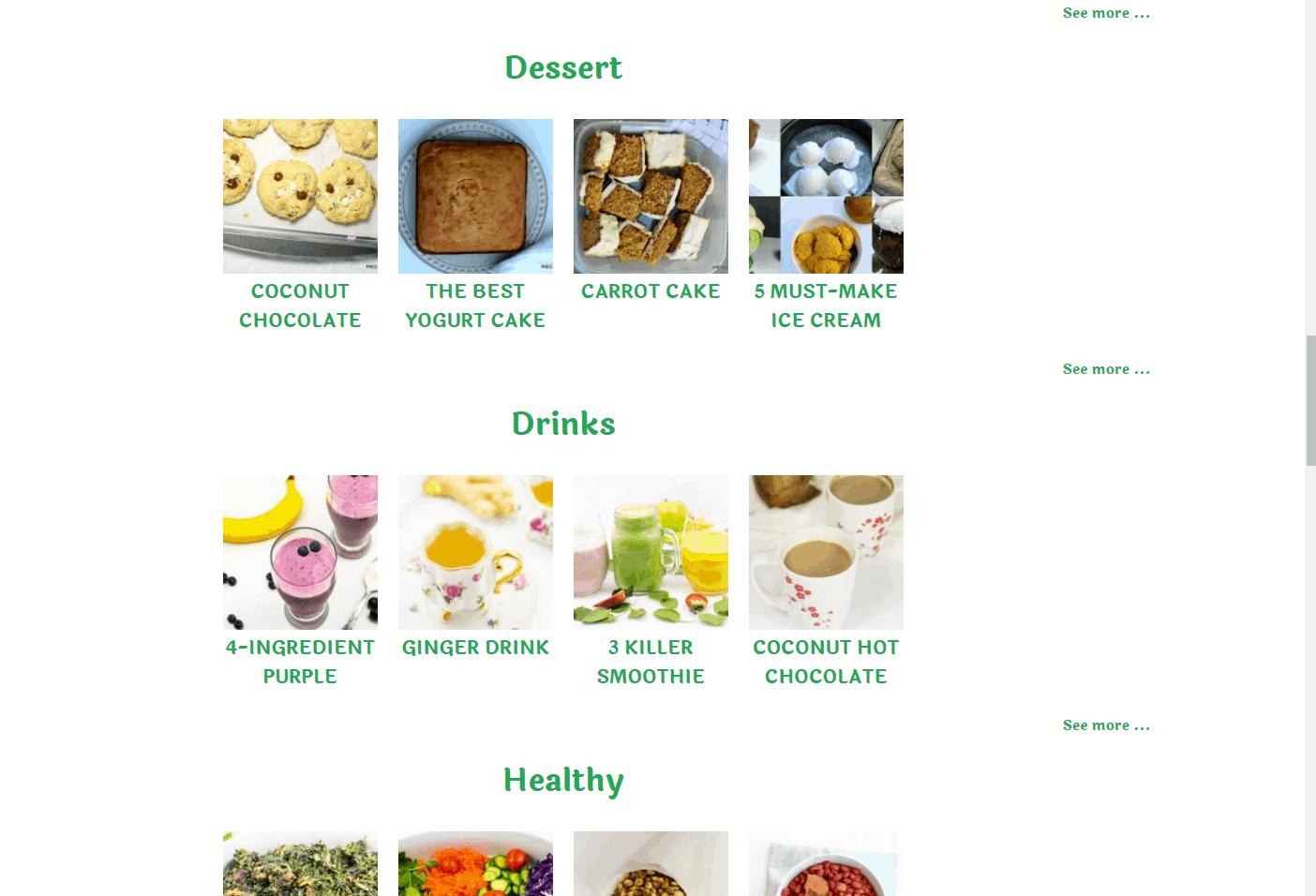 precious core recipe index 3