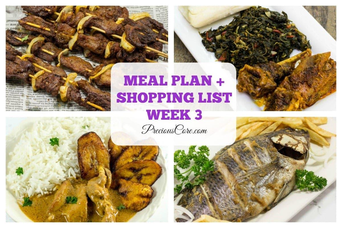 cameroonian menu plan