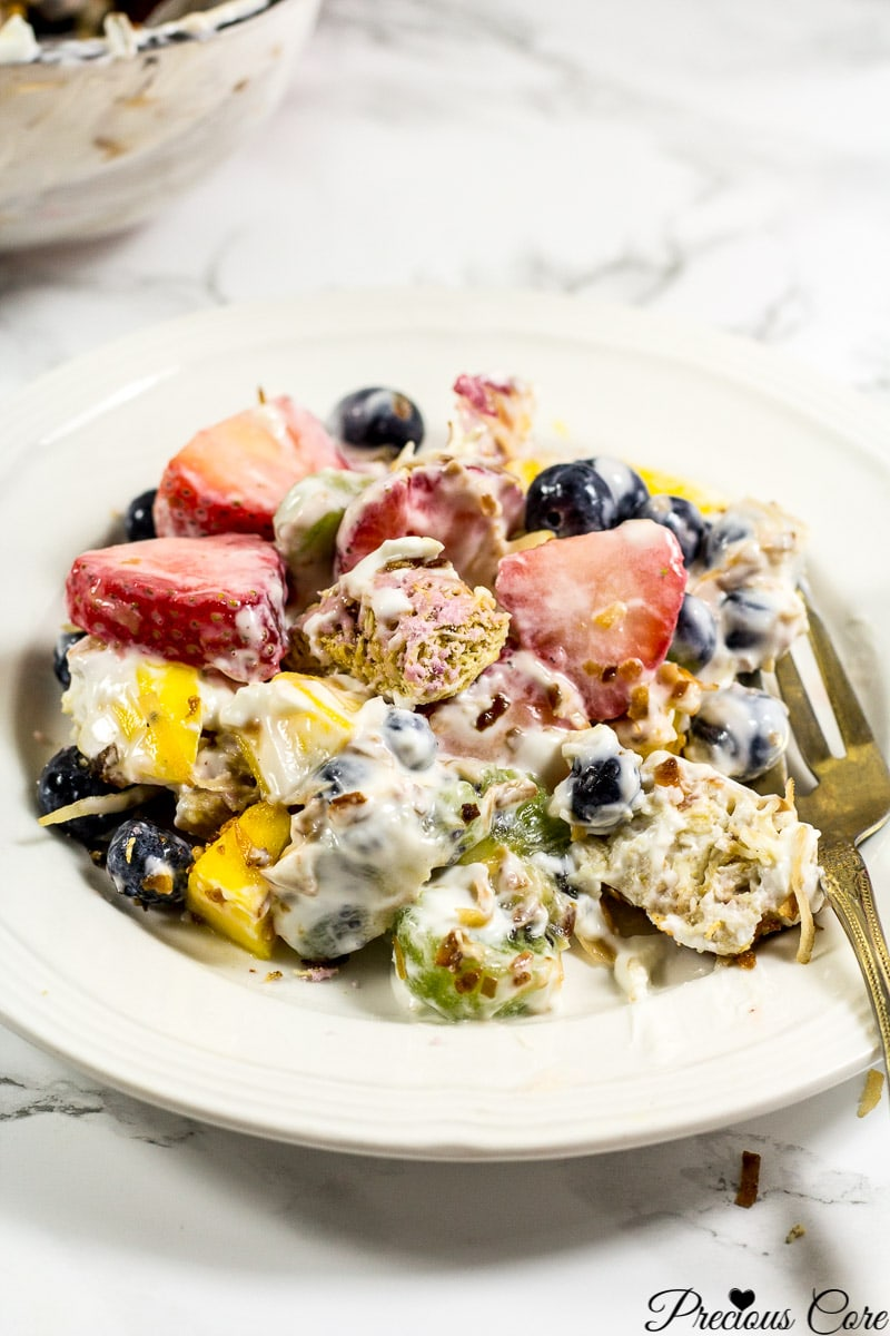 7 layer fruit salad summer
