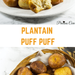 Puff Puff with plantains