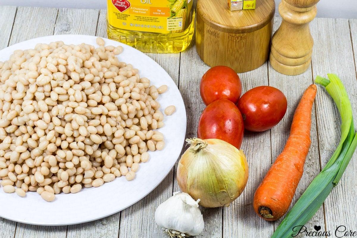 white bean stew recipe ingredients