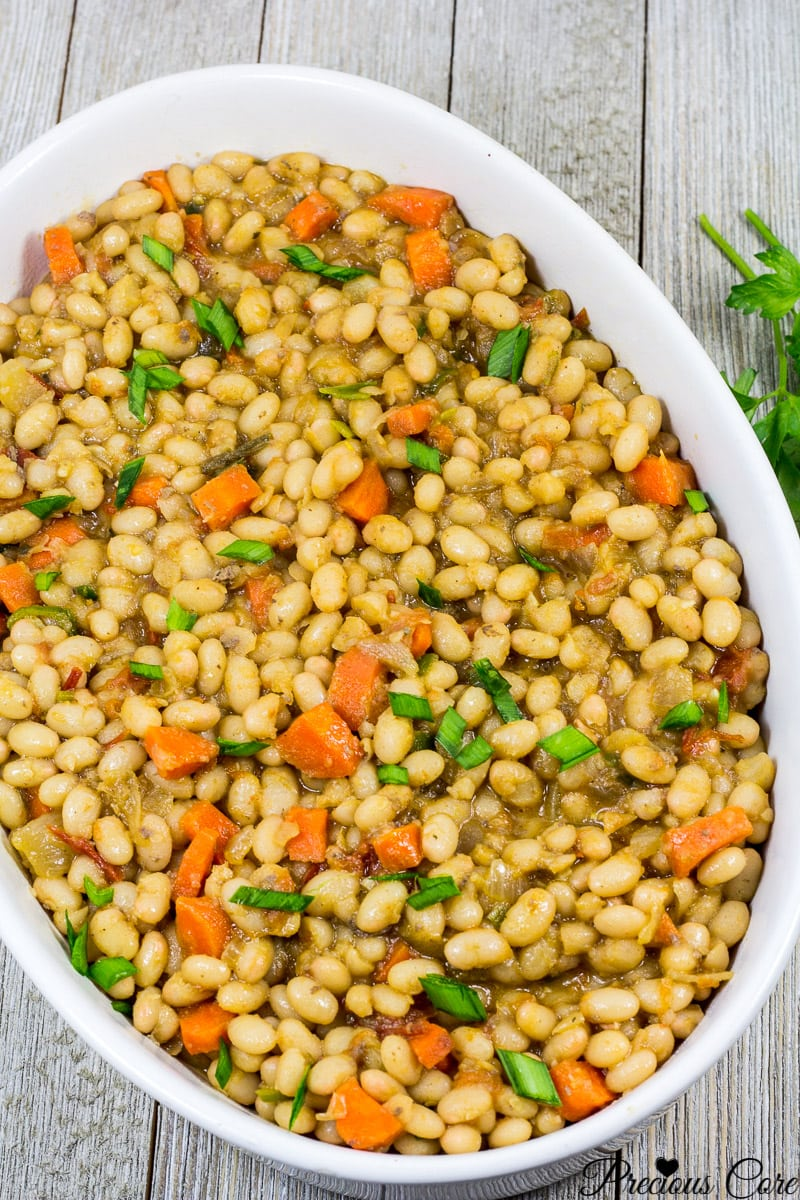 stewed white beans