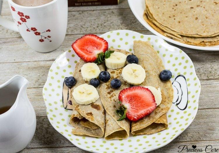 Healthy Banana Crepes Recipe