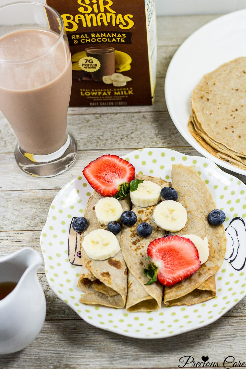 healthy banana crepes