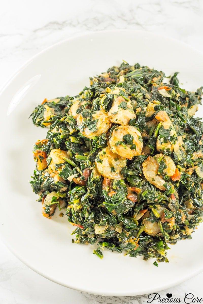 spinach stew recipe
