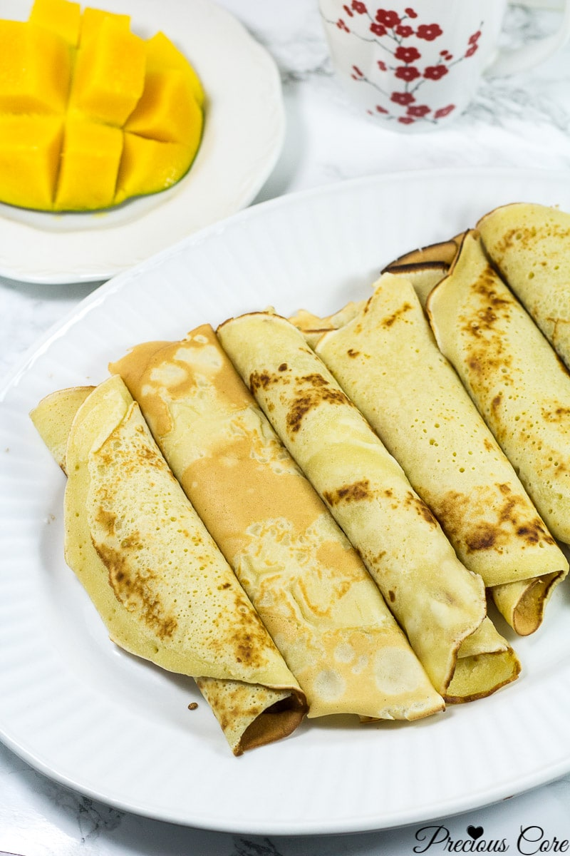 How to make Cameroonian pancakes. These Cameroonian pancakes are like crepes but slightly thicker than crepes. They come together in no time! This is the perfect breakfast recipe. Enjoy!
