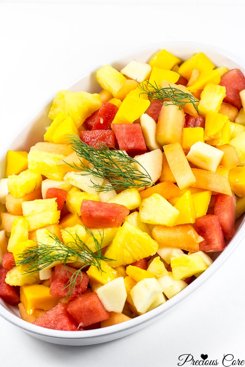 Salad with pineapples - options weight 58
