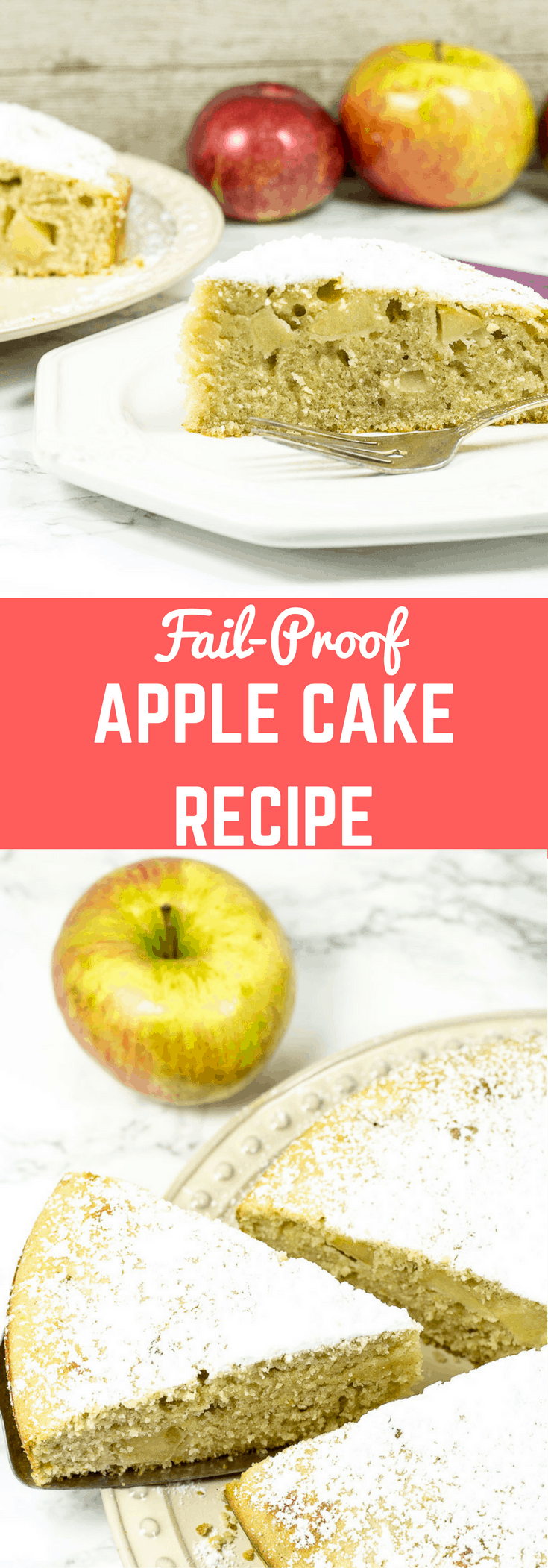 The best apple cake recipe made with fresh apples. This fresh apple cake recipe is perfect for fall any time of the year.