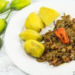 Garden egg sauce Cameroon, Nigeria recipe.
