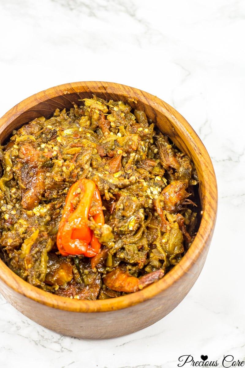 Nigerian garden egg stew.