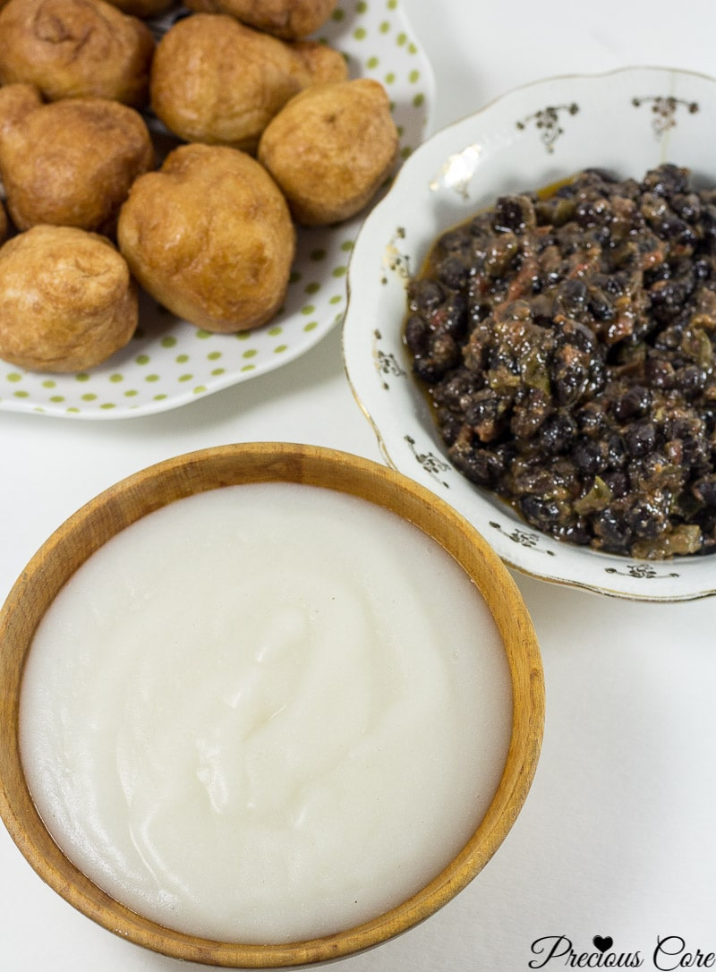 How to make pap from scratch! Pap is a corn porridge typically eaten in Cameroon and Nigeria. Instead of using whole corn as is traditionally used, I used corn flour in this recipe and the results are epic. It is authentic, slightly tangy and so comforting. I love having this for breakfast or a quick dinner.