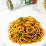 Blackened shrimp pasta - a flavorful pasta dinner made in 30 minutes. So easy, so delicious.