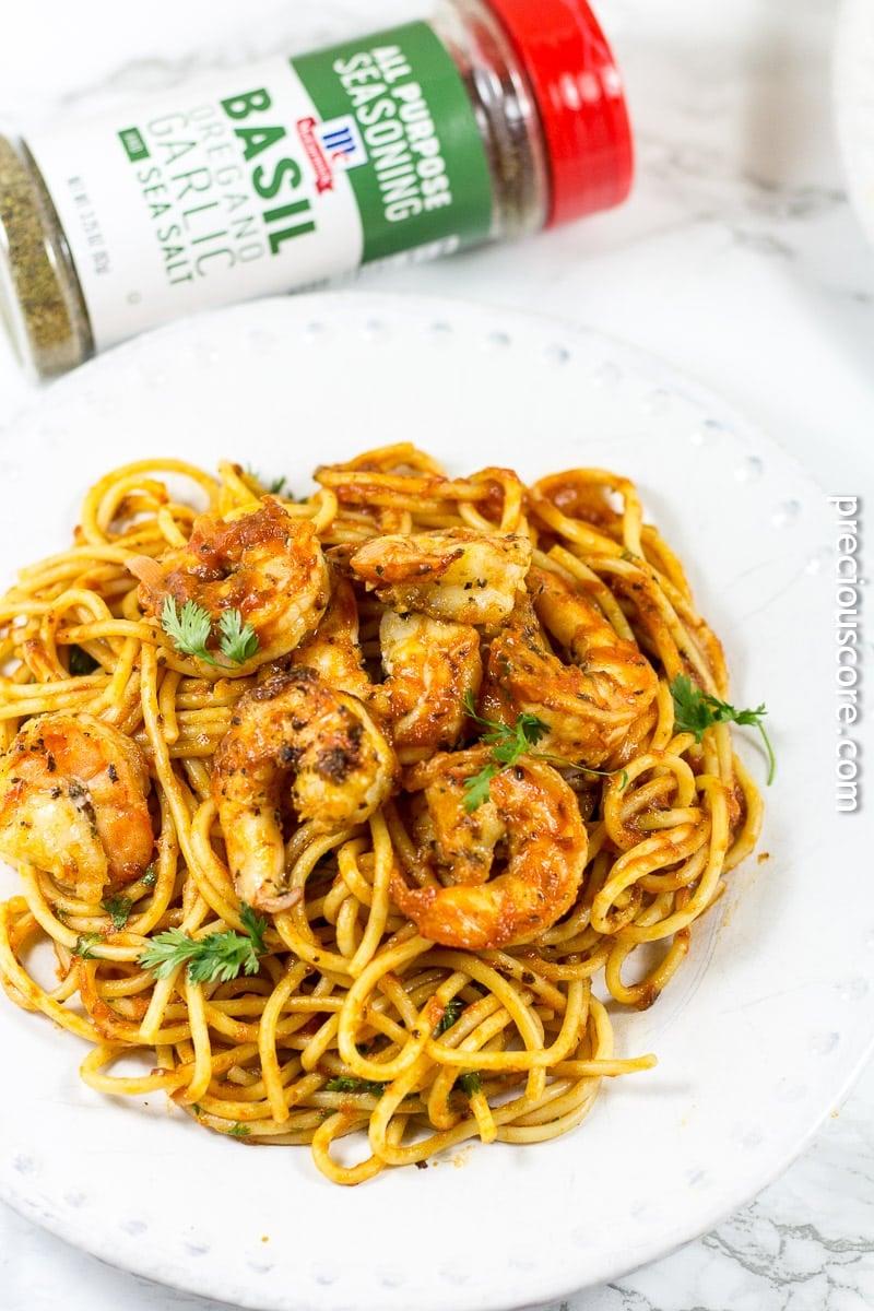 Blackened Shrimp Pasta for dinner
