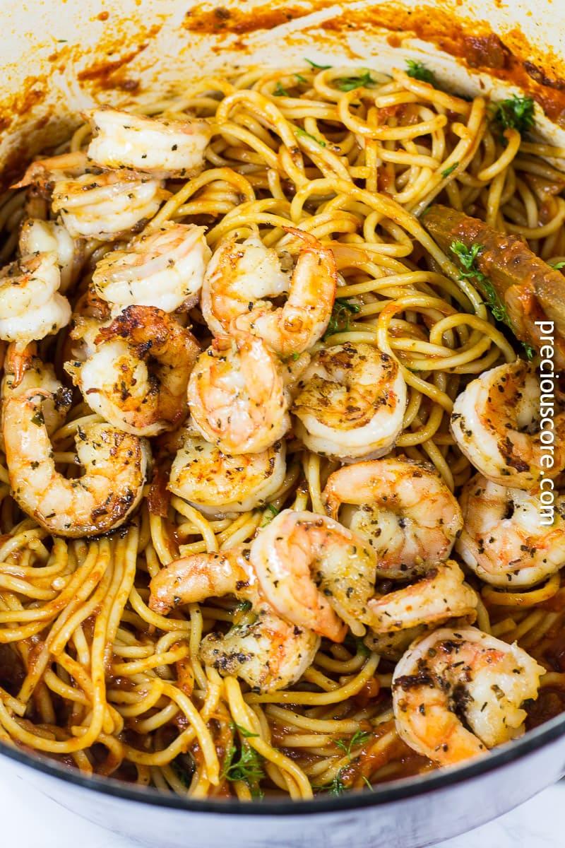 Blackened Shrimp and Pasta recipe