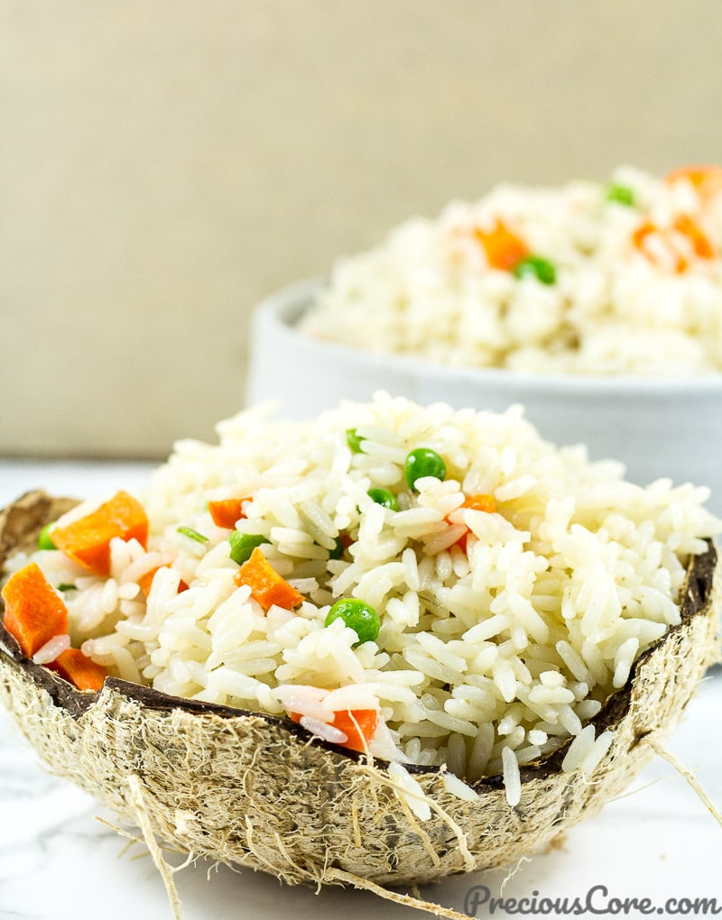 How to make the best easy coconut rice.
