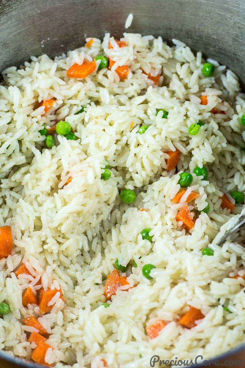 Easy coconut rice method