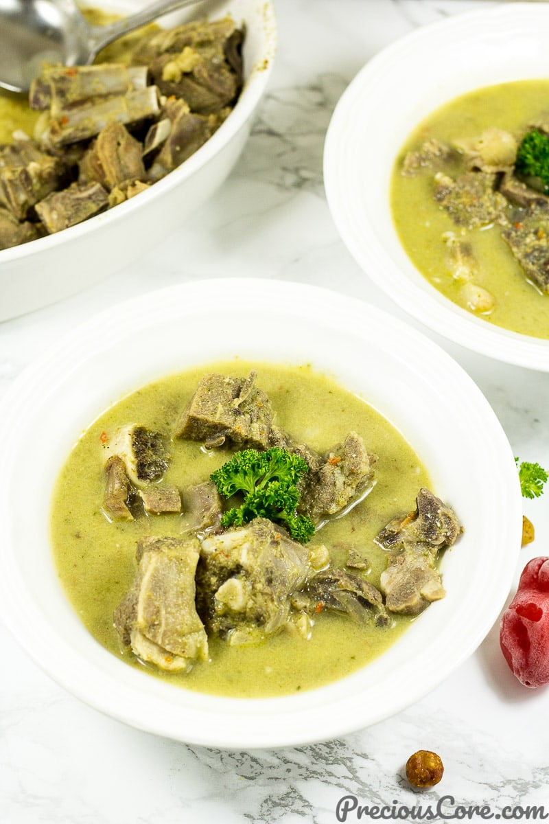 Cameroonian Goat Meat Pepper Soup Recipe.
