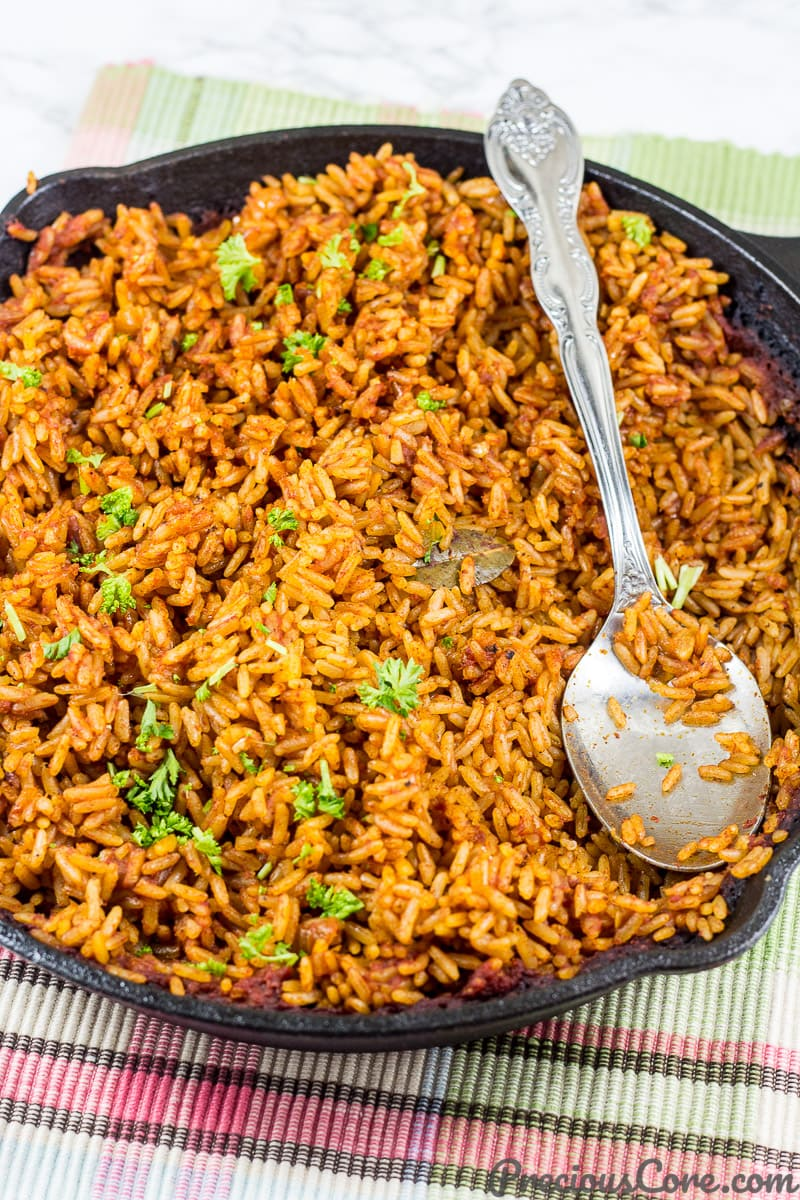 Jollof Rice made in the oven