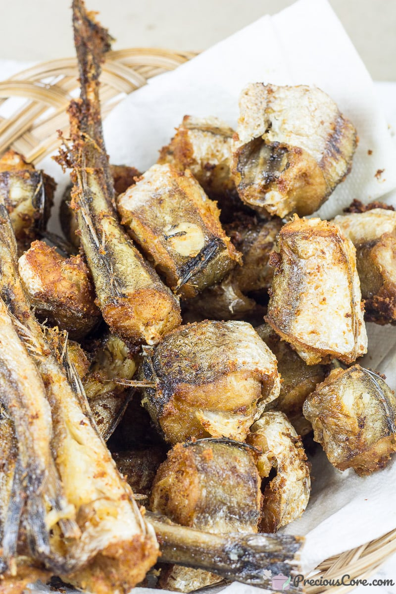 Fried fish for Nigerian peppered fish