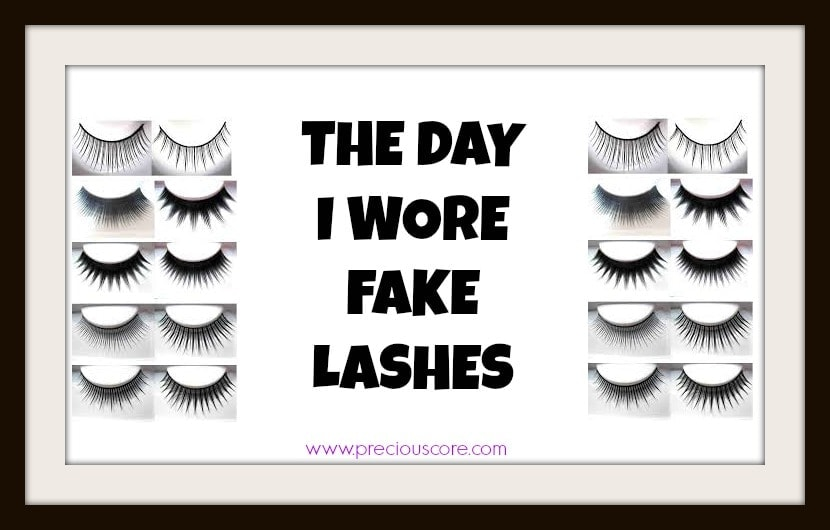The day I wore fake lashes
