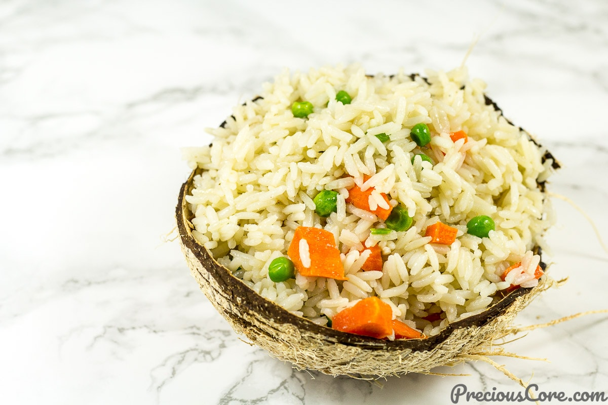 Rice cooked in coconut milk