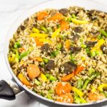Mushroom fried rice recipe.