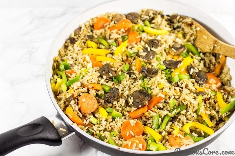 Mushroom fried rice recipe.