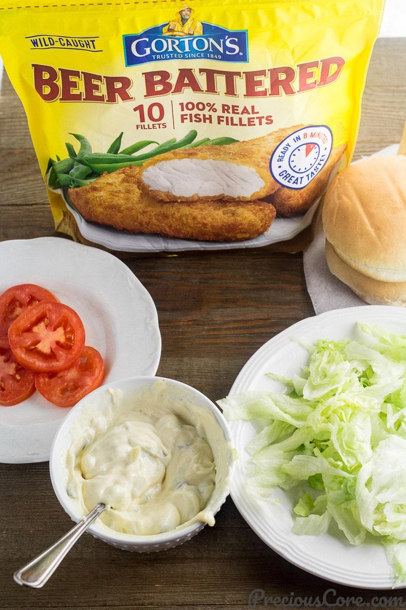 Easy fish sandwich recipe INGREDIENTS
