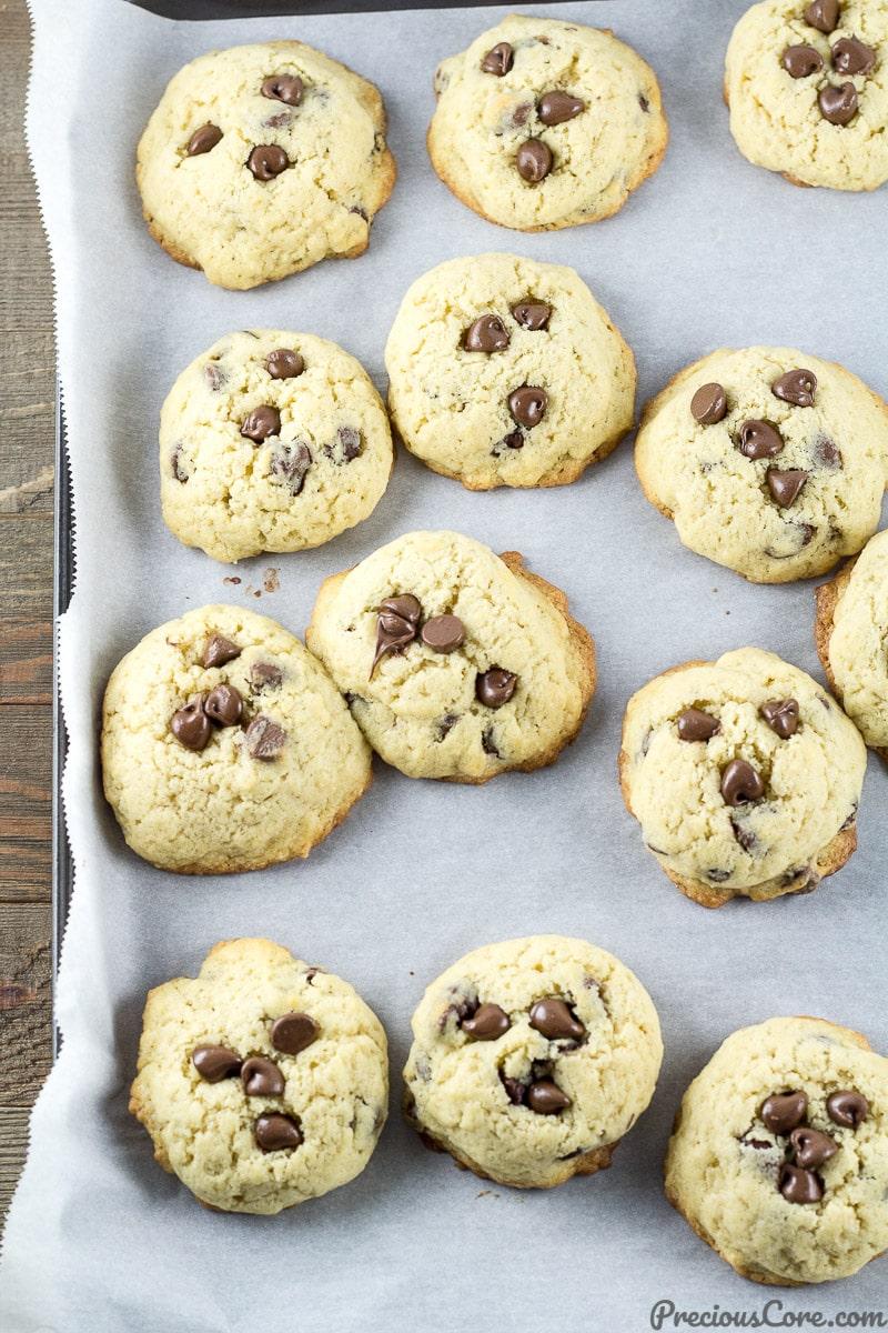 Easiest chocolate chip cookies just baked