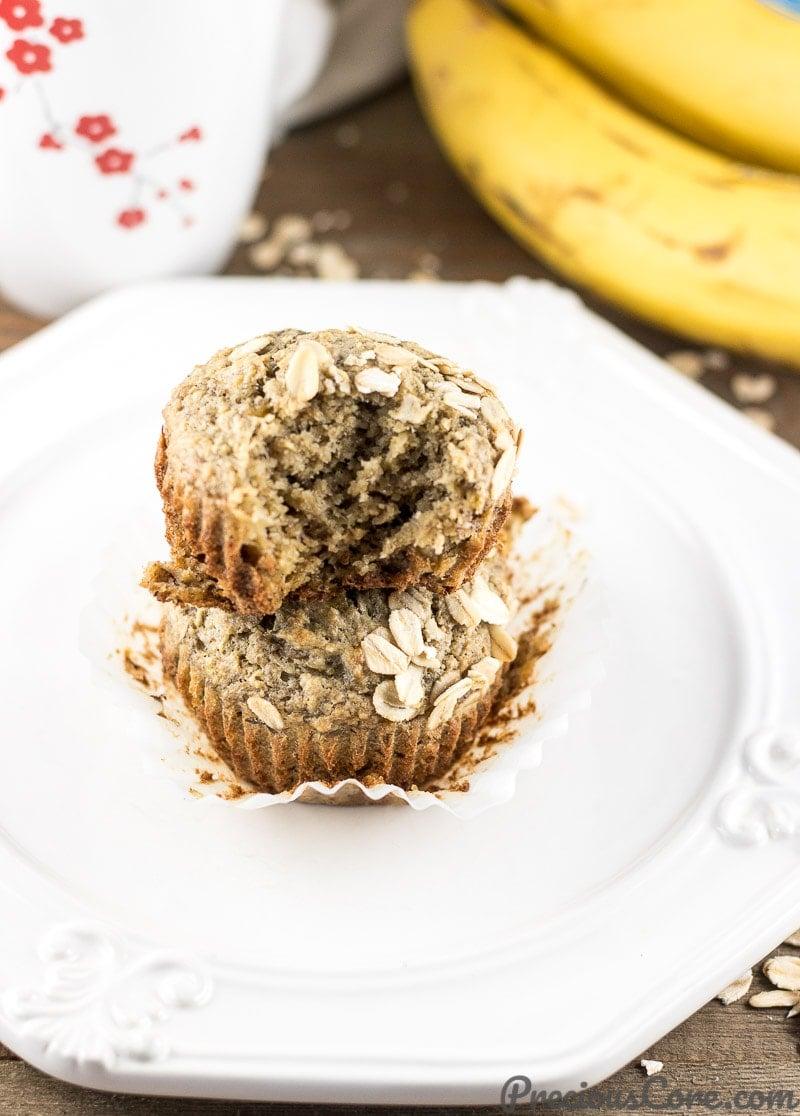 Healthy Banana Oat Muffins Easy Recipe