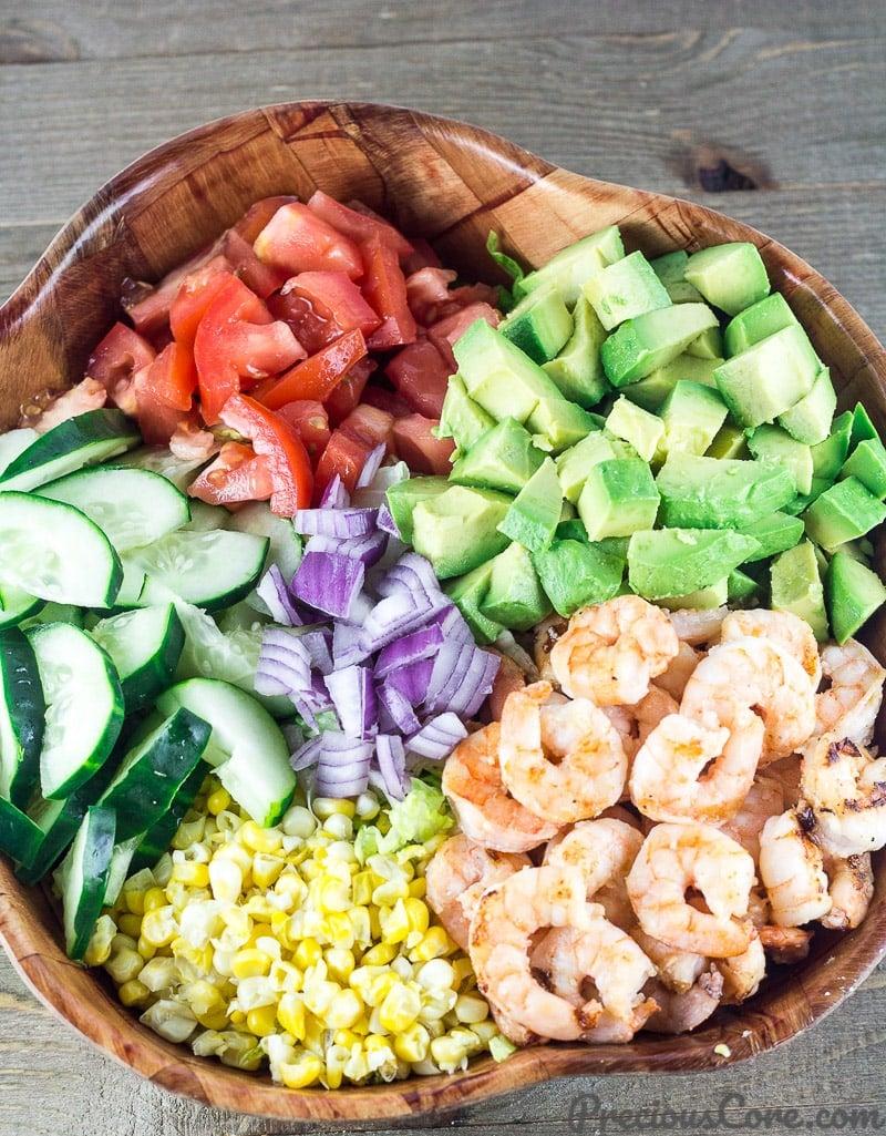 Shrimp Avocado Tomato Salad recipe