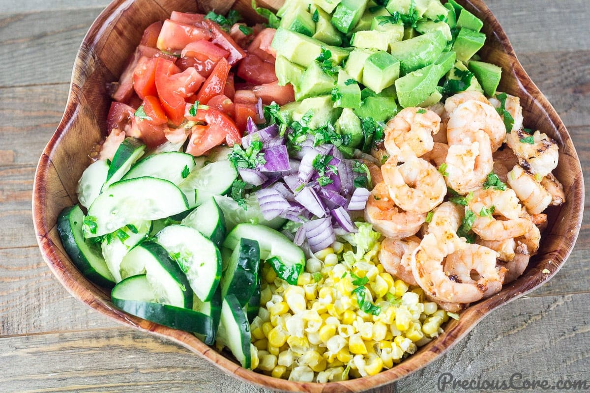 Shrimp Avocado Tomato Salad