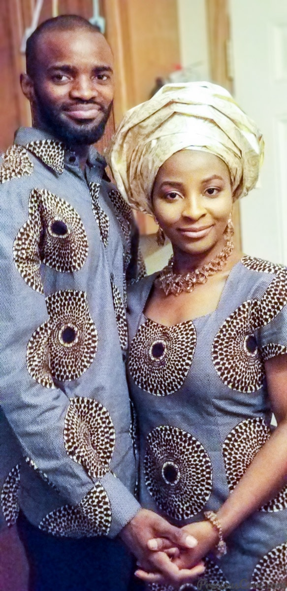 African traditional wedding couple