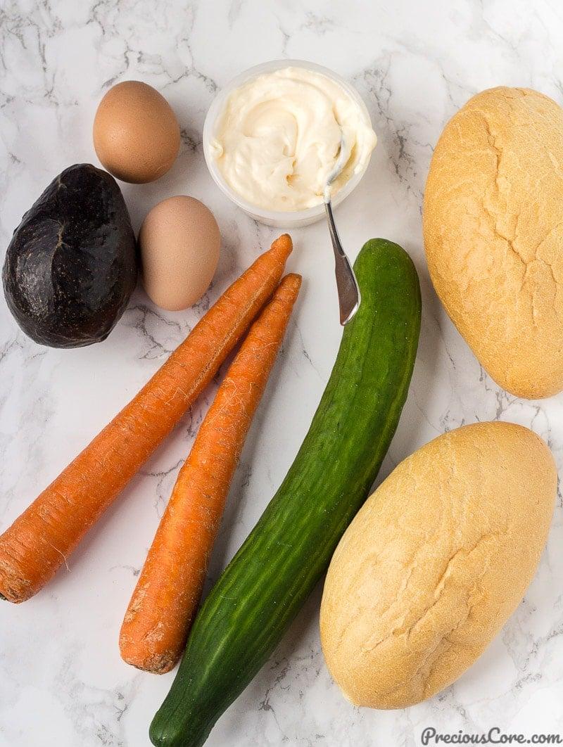 Ingredients for Breakfast Salad
